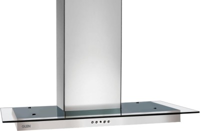 GLEN Glen 60Cm Kitchen Chimney 1000 M3/Hr (Straight Glass SS Hood 6062, Two Baffle Filter ) Wall Mounted Chimney