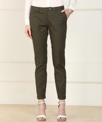 Van Heusen Regular Fit Women Green Trousers