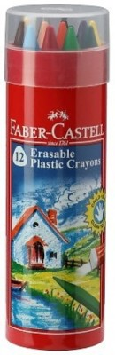 Faber-Castell 14 ERASABLE CRAYON TIN SET WITH GOLD AND SILVER