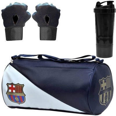5 O' CLOCK SPORTS New Premium Sports Combo of FCB Leather Gym Bag Gym & Fitness Kit