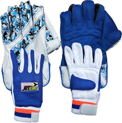 JetFire College Wicket Keeping Gloves Combo With Inner Gloves(Men, Blue) Wicket Keeping Gloves