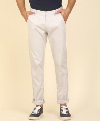Flying Machine Slim Fit Men Grey Trousers