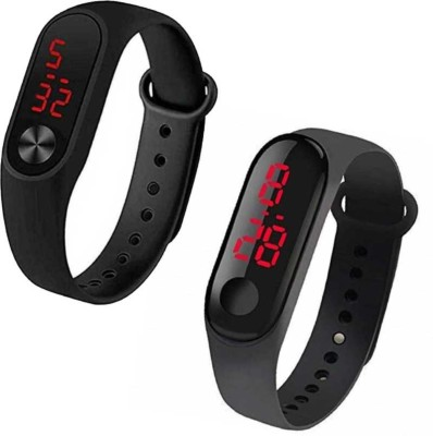 Swadesi Stuff Silicone LED Digital Combo of 2 Good Looking Kids Watch for Boys & Girls Digital Watch  - For Boys & Girls