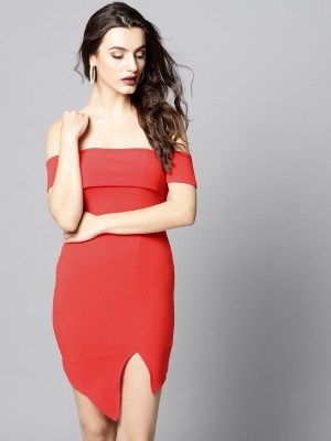 Veni Vidi Vici Women Bodycon Red Dress