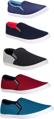 BRUTON Combo Pack Of 5 Casual Shoes Loafers For Men