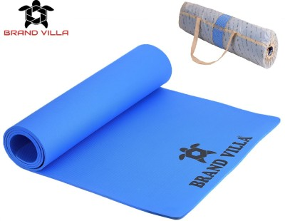 Brandvilla 100%EVA Eco Friendly Mat, 6mmExercise & Gym Mat With Bag Blue 6 mm Yoga Mat