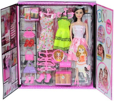Kiyara Collection Latest beautiful fashion dollwith dress & accessories (Multicolor)(Multicolor)