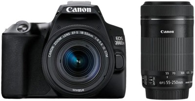 Canon EOS 200D II DSLR Camera Body with Dual Lens 18 - 55 mm f/4 - 5.6 IS STM and 55 - 250 mm f/4 - 5.6 IS STM
