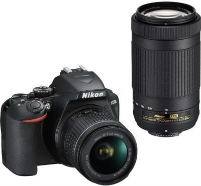 Nikon D3500 DSLR Camera Body with Dual lens: 18-55 mm f/3.5-5.6 G VR and AF-P DX Nikkor 70-300 mm f/4.5-6.3G ED VR