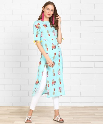 Anmi Indie Collection Printed Women Frontslit Kurta