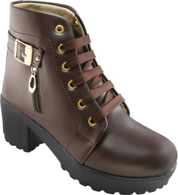 Longwalk Perfect Stylish Girls High Ankel Boots For Women