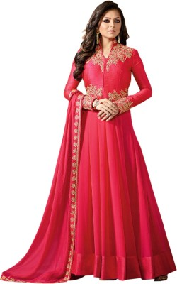 Ethnic Yard Georgette Embroidered Salwar Suit Material