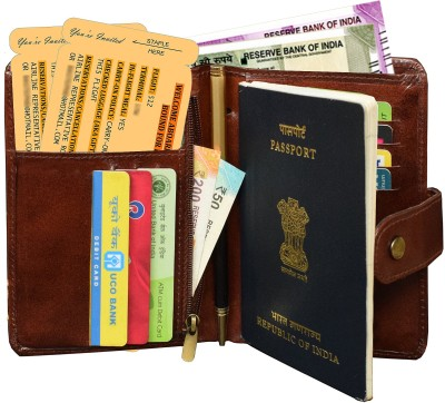 ABYS 100% Genuine Leather Bombay Travel Passport Holder