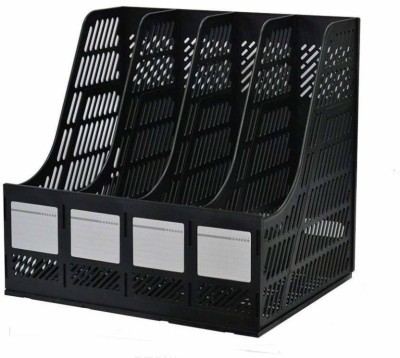 Gnany 4 Compartments Plastic file Rack