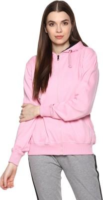 Alan Jones Full Sleeve Solid Women Sweatshirt