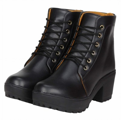 Dicy Synthetic Leather Casual PartyWear Boots For Girls Boots For Women