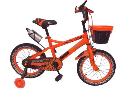 X Bicycle Space Bike For Kids Of Age 5-8 Yrs Orange 16 T Recreation Cycle