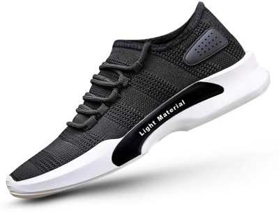 MILESWALKER Mesh Running Shoes ,Cricket Shoes Running Shoes For Men (Black) Running Shoes For Men