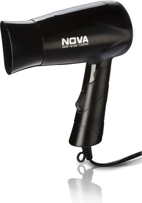 Nova Silky Shine 1200 W Hot And Cold Foldable NHP 8100 Hair Dryer