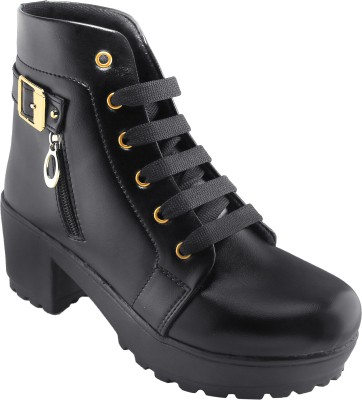 Dicy Leather Casual Stylish Look Boots Shoes Boots For Women
