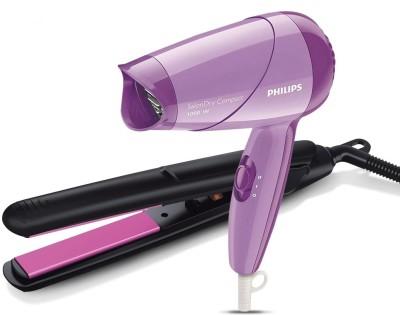 Philips Straightener (Black) & Dryer (Purple) Combo Personal Care Appliance Combo