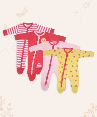 Miss & Chief Baby Baby Boys & Baby Girls Multicolor Sleepsuit