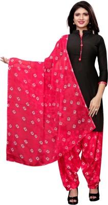 Saara Poly Crepe Printed, Geometric Print Salwar Suit Material