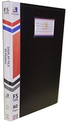 Arbuda Clear Cover Presentation Display File Folder 30 Pockets , F/S Size - Plastic Plastic