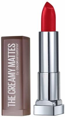 Maybelline Color Sensational Creamy Matte Lipstick, 632 Hot Chili