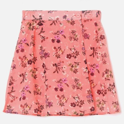 FAME FOREVER by Lifestyle Printed Girls Regular Pink Skirt
