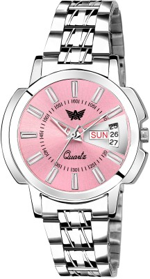 Abrexo Abx4055-PK Pink Day & Date Girls Analog Watch  - For Women
