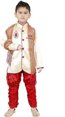 SKDC Boys Festive & Party Kurta, Pyjama & Dupatta Set