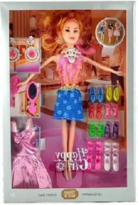 Elektron Happy Girl Doll Series With Doll Dresses Set For Kids