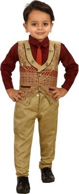 Bold Born Boys Festive & Party Shirt, Waistcoat and Pant Set