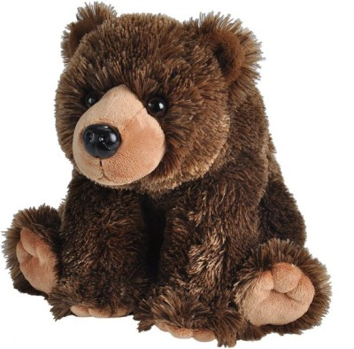 E-Chariot Grizzly Bear Stuffed Animal Cuddlekins Soft Toys by Wild Republic  - 10 cm