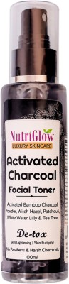 NutriGlow Luxury Skincare Activated Charcoal Facial Toner (100ml)