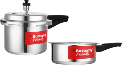 Butterfly Friendly 3 L, 2 L Induction Bottom Pressure Cooker