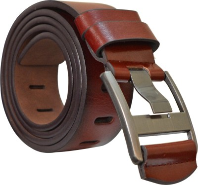 SUNSHOPPING Men Formal Brown Synthetic Belt