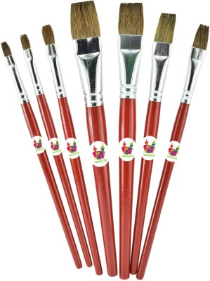 Unobite Pony Hair 7 Paint Brushes(Flat)