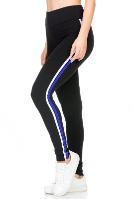 Blinkin Solid Women Black, Blue Tights