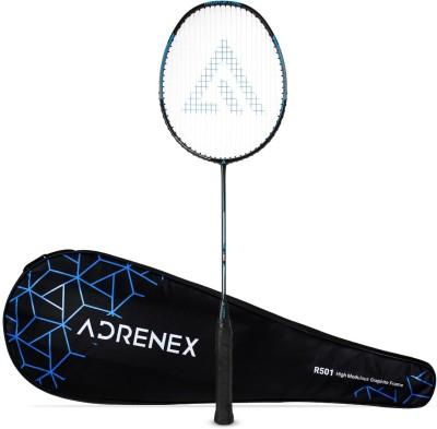 Adrenex by Flipkart R501 Full Graphite Badminton Racquet Black, Blue Strung