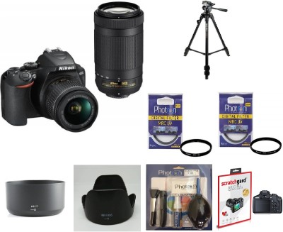 Nikon D3500 (With Basic Accessory Kit) DSLR Camera Body with Dual lens: 18-55 mm f/3.5-5.6 G VR and AF-P DX Nikkor 70-300 mm f/4.5-6.3G ED VR