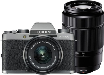 Fujifilm X Series X-T100 Mirrorless Camera Dual Kit with 15-45mm + 50-230mm Lens Kit