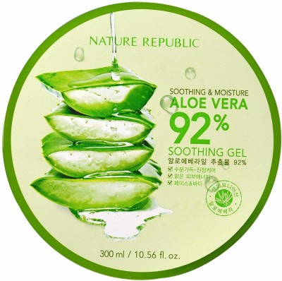 Nature Republic Aloe Vera Soothing Gel, 300ml, Korean Skincare cosmetics