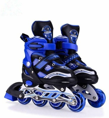 toy arena Inline Skating Size Adjustable All Pure PU-Alloy Wheels of Aluminum In-line Skates - Size 6-9 UK