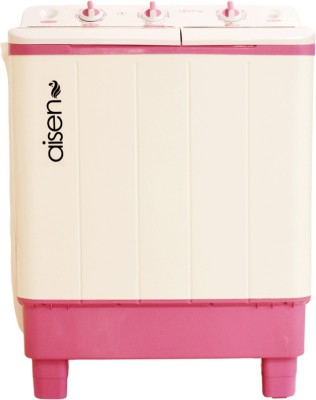 Aisen 7 kg Semi Automatic Top Load White, Pink