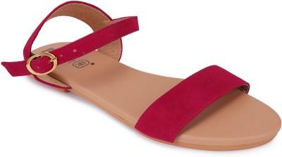 PKKART Women Red Flats