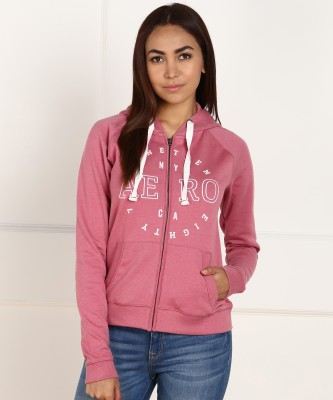 Aeropostale Full Sleeve Embroidered Women Sweatshirt