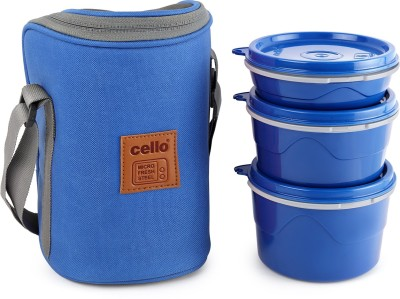 Cello Hot Wave Microwavable Lunch Box 3 Containers Lunch Box