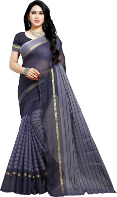 Sidhidata Striped Daily Wear Pure Cotton, Cotton Silk Saree